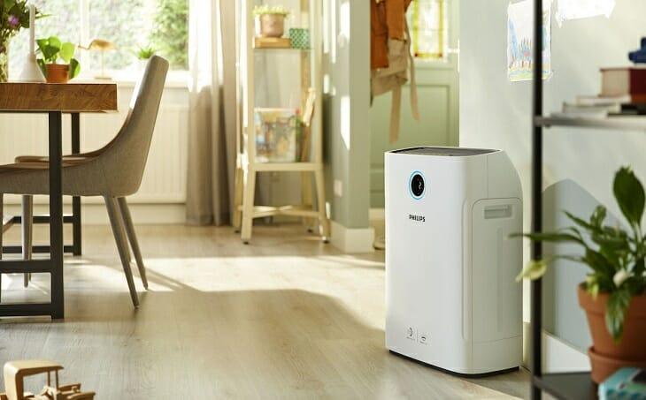 Воздухоочиститель в домашнем интерьере