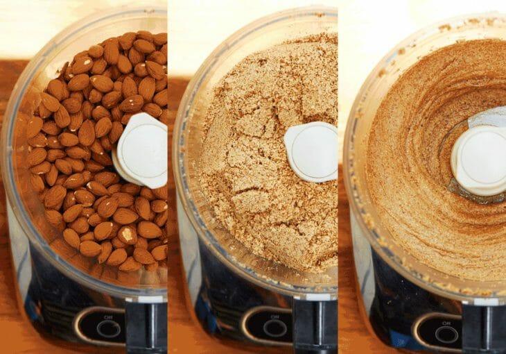 Измельчение ореха в блендере