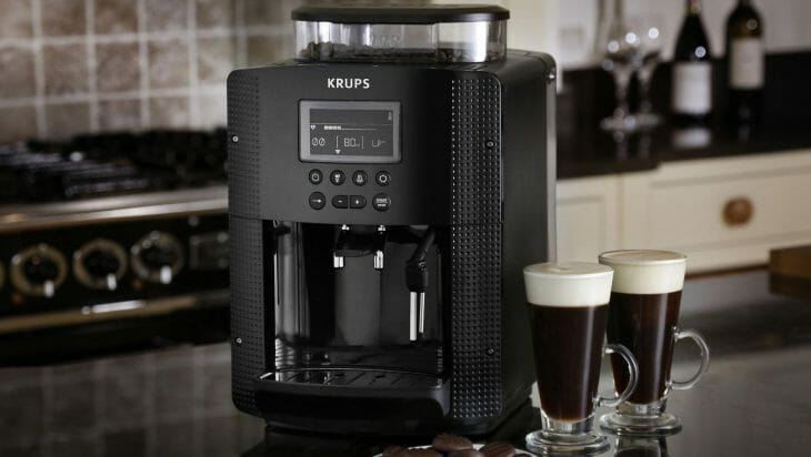 Небольшая кофемашина с встроенной кофемолкой
