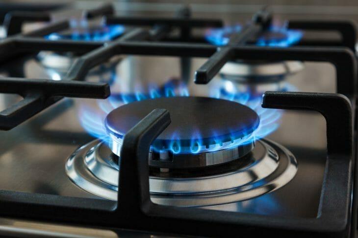 Пламя конфорки газовой плиты