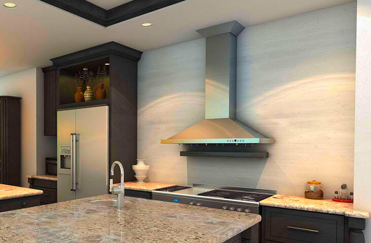 Потолочная вытяжка на кухне
