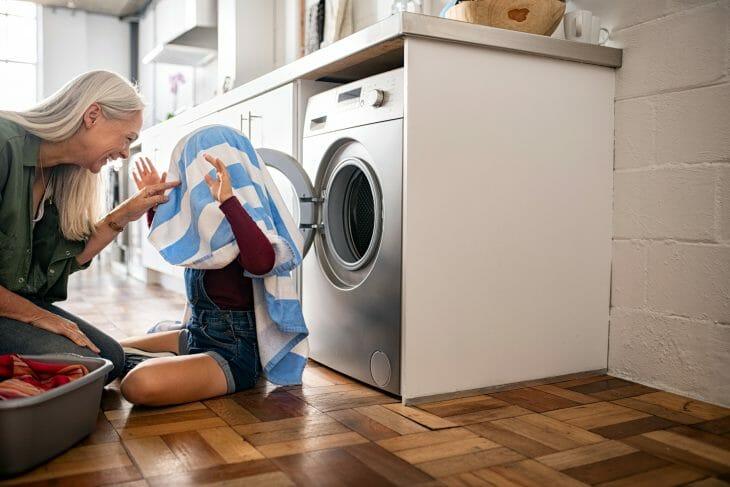 Игры возле стиральной машины