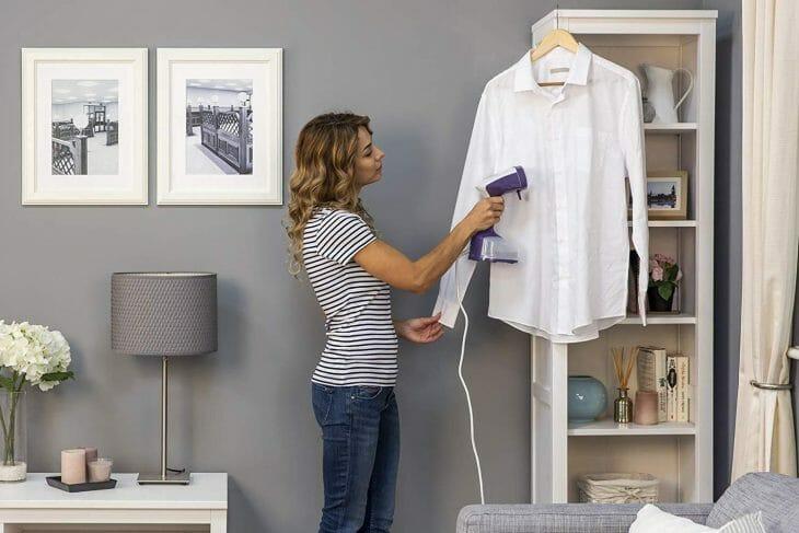 Чистка одежды отпаривателем