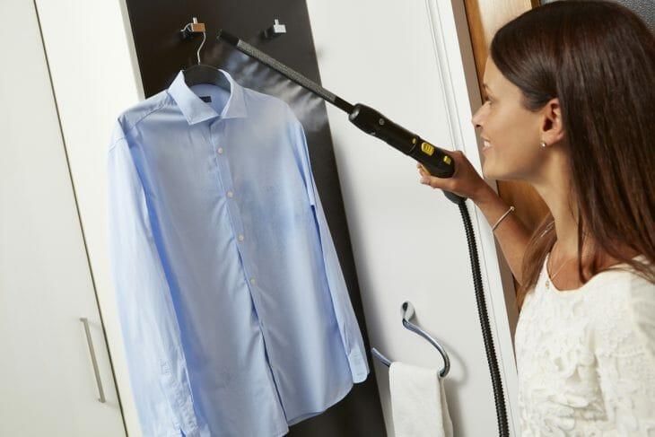 Отпаривание пятен на рубашке