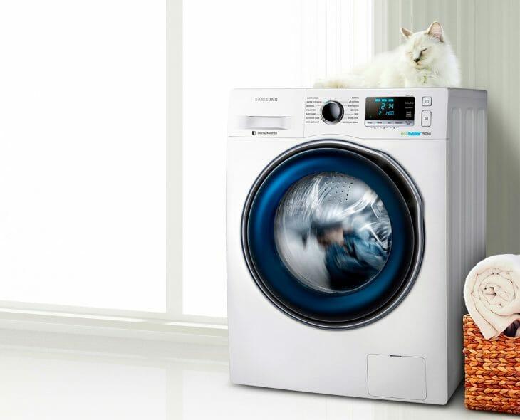 Тихая стиральная машина Samsung с инверторным двигателем