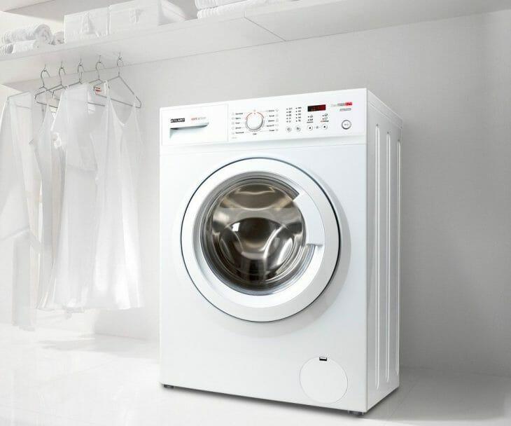 Белая стиральная машинка Atlant