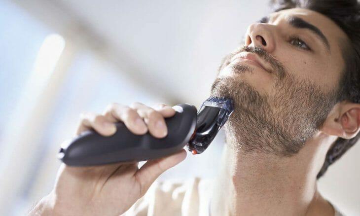 Обработка бороды триммером