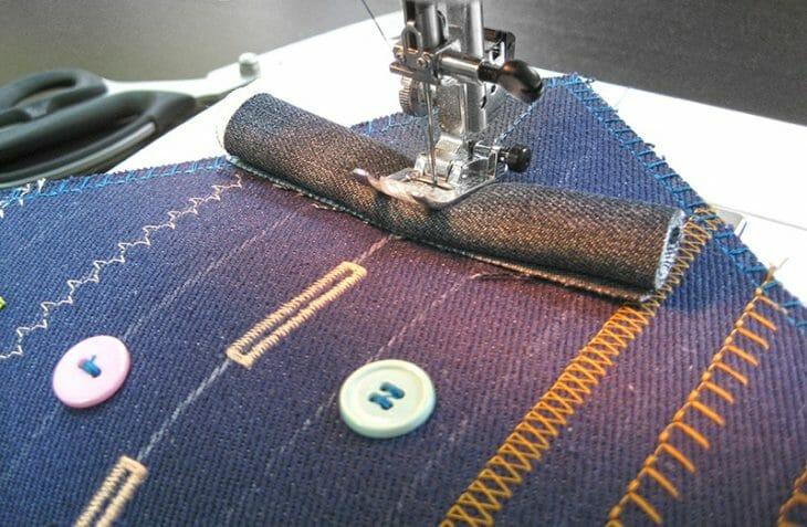 Разные стежки на швейной машинке
