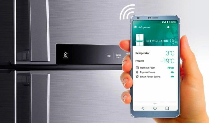 Умный холодильник LG с управлением через смартфон
