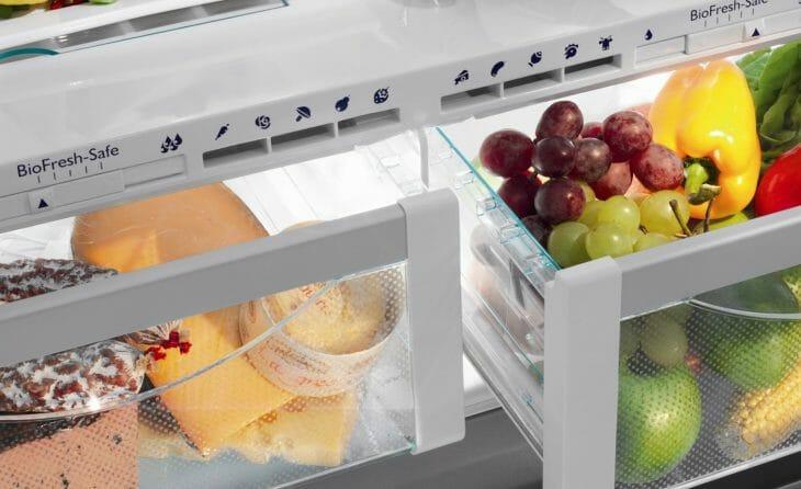 Зона свежести холодильника с двумя дверцами