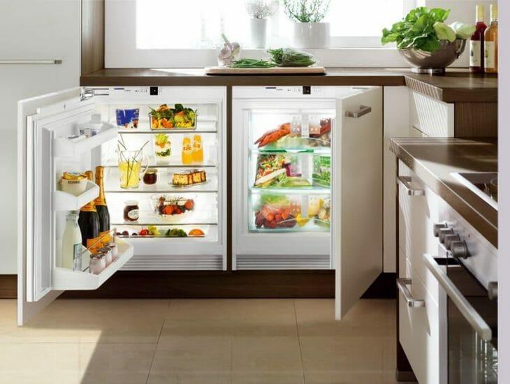 Встраиваемая пара из холодильника и морозилки