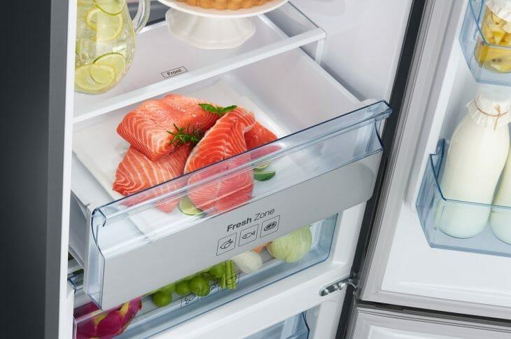 Внутреннее пространство холодильника Haier
