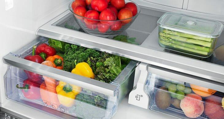 На полках холодильника Норд