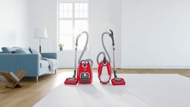 Красные пылесосы Bosch