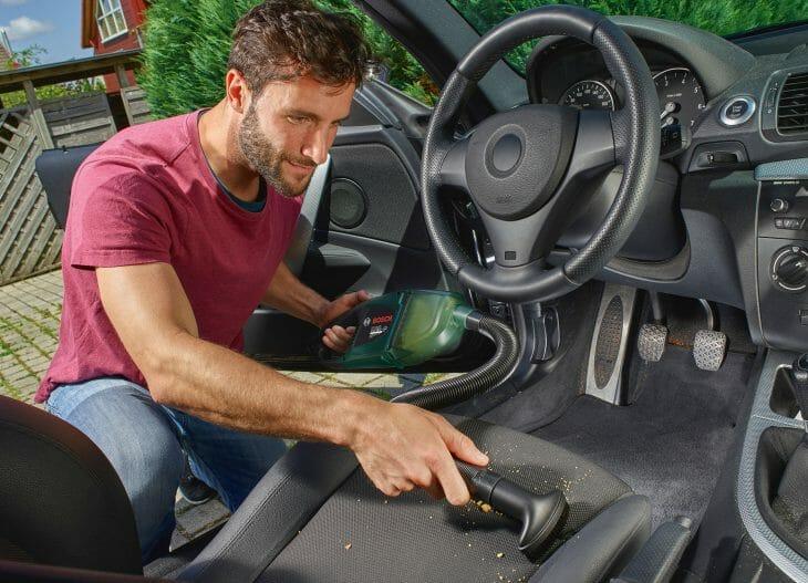Пылесос Bosch с контейнером-пылесборником для машины