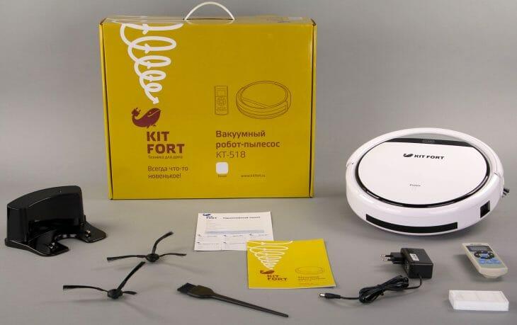 Комплектация робота-пылесоса Kitfort