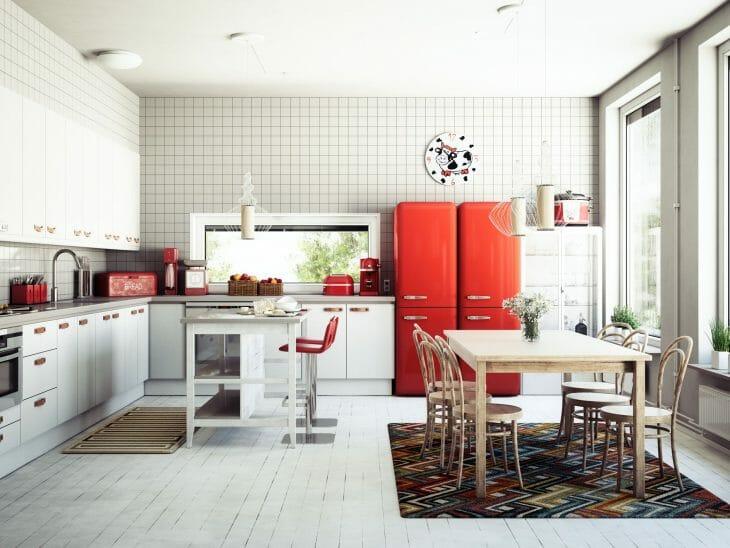 Красные холодильники Vestfrost