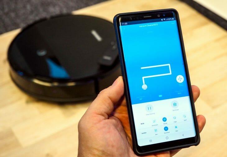 Мобильное приложение для управления роботом пылесосом Samsung