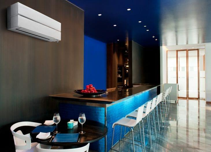 Сплит-система Mitsubishi Electric в баре