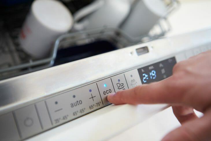 Кнопки управления программами посудомойки