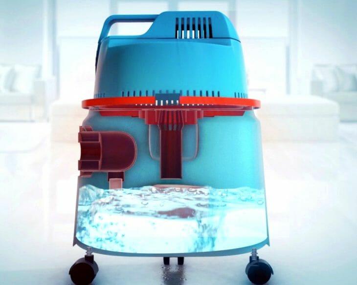 Принцип работы аквафильтра в моющем пылесосе
