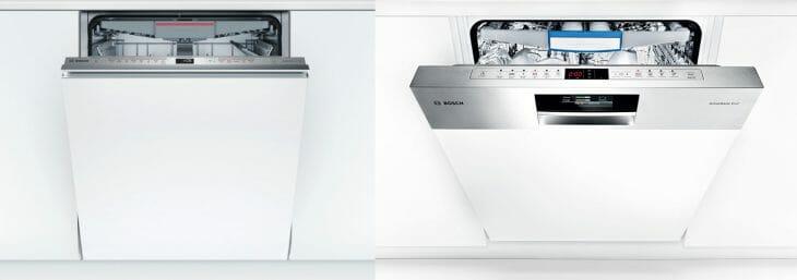 Разница между полностью и частично встраиваемой посудомоечной машиной