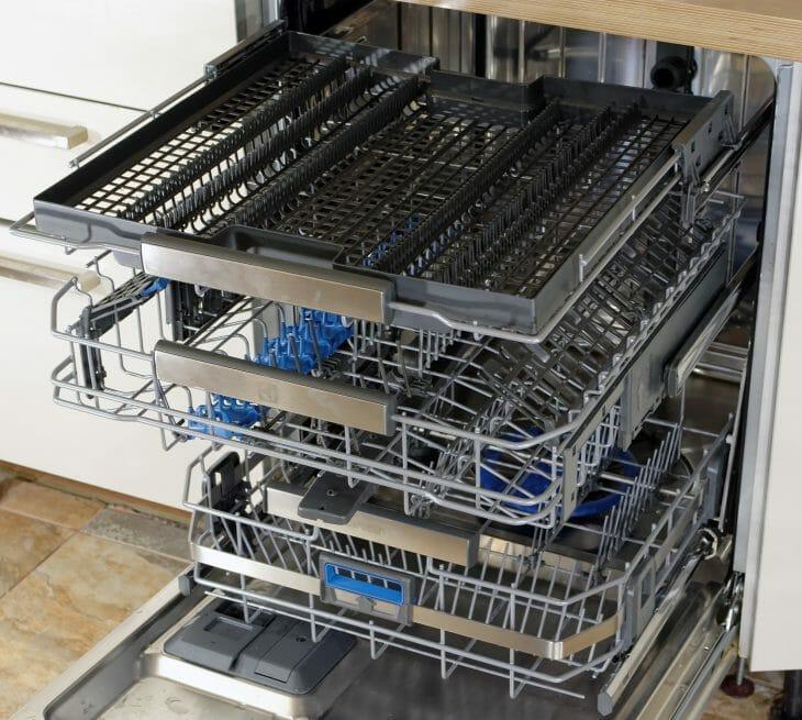 Корзины для посуды в посудомойке