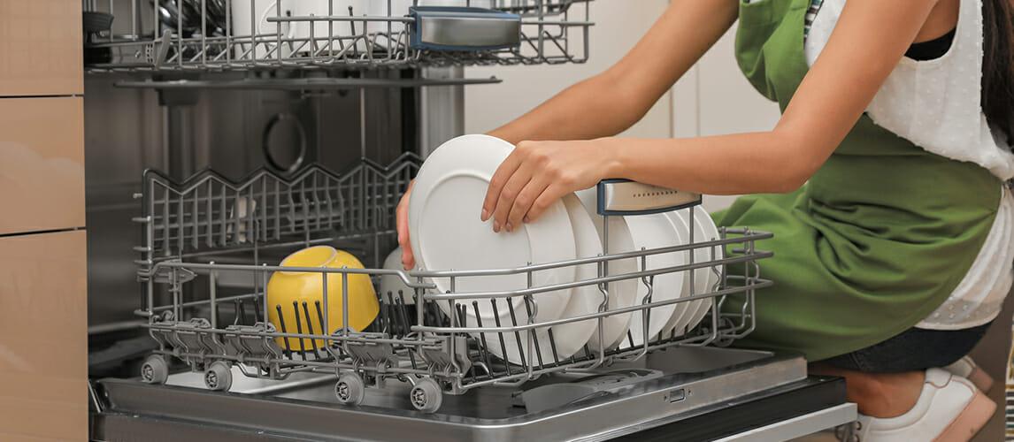 Загрузка посудомойки на 50%