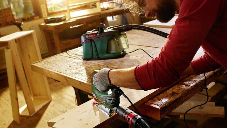 Строительный пылесос Karcher для столярной мастерской