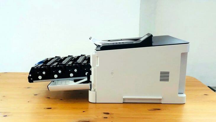 Каретка с картриджами принтера Canon