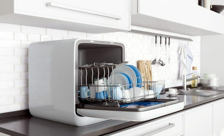 Конденсационная сушка внутри посудомойки