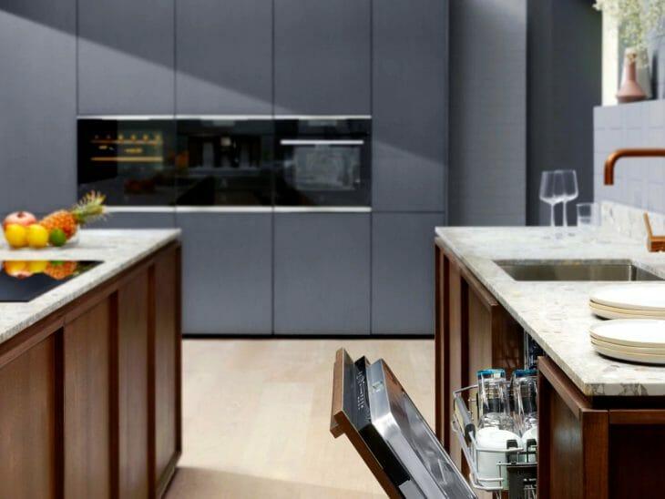 Кухня со встраиваемой посудомойкой Electrolux 45 сантиметров