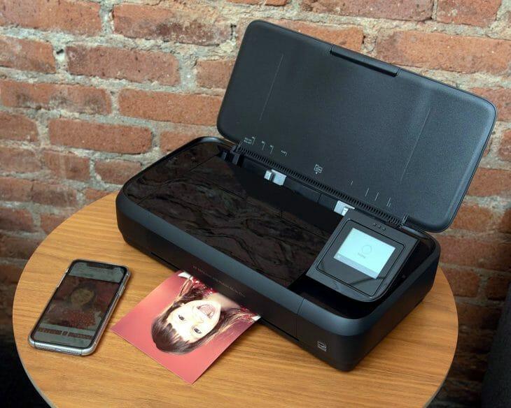 Переносной принтер с сенсорным экраном