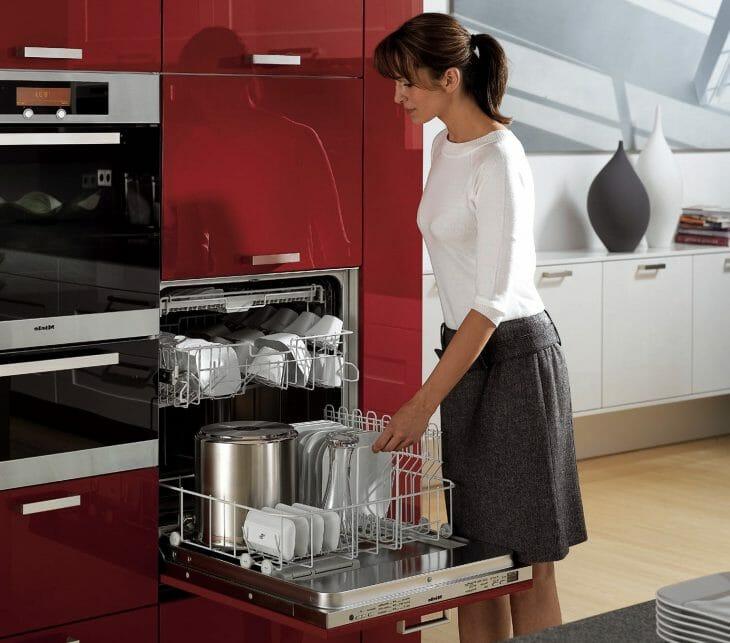 Подъем верхней корзины в посудомоечной машине