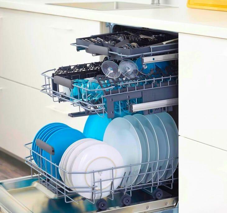 Посудомойка IKEA с 3 уровнями загрузки
