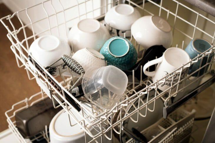 Посудомойка после использования