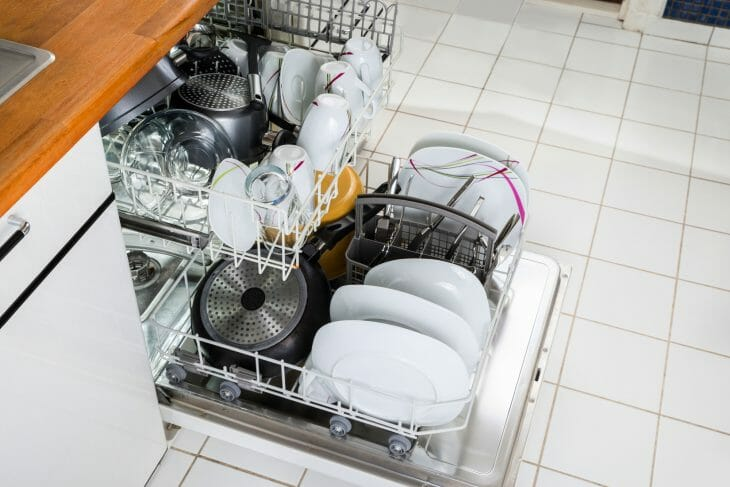 Рациональное размещение посуды в посудомойке