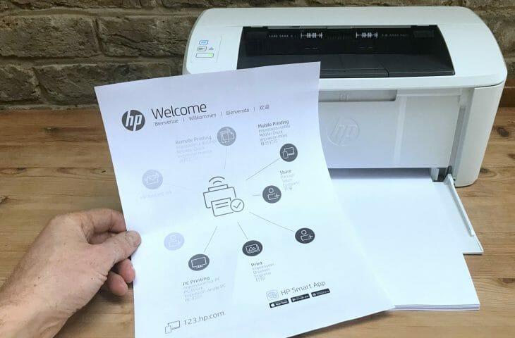 Тестовая страница офисного принтера HP