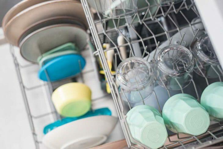 Вид на посудомойку сверху