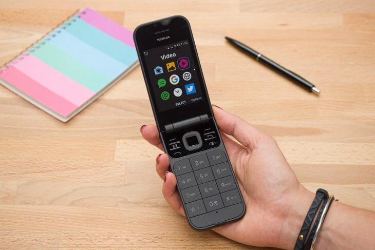 Черная раскладушка Nokia