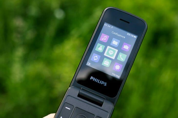 Дисплей телефона раскладушки