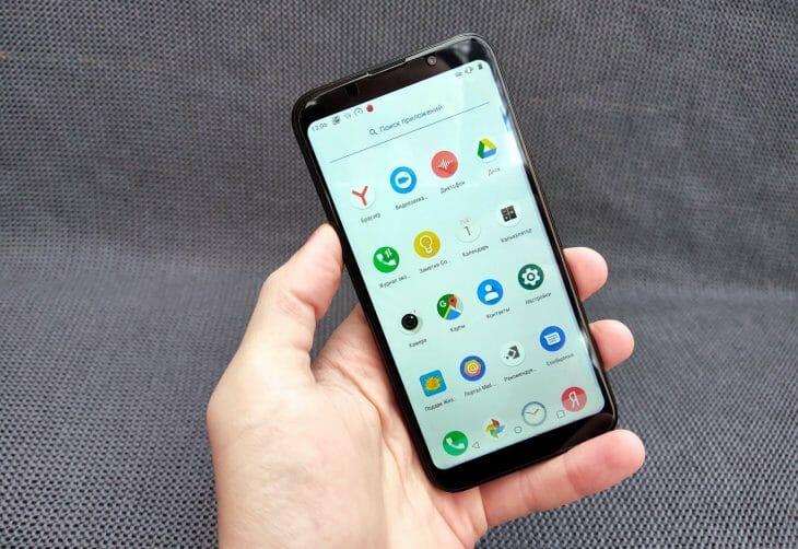 Экран смартфона с HD-разрешением