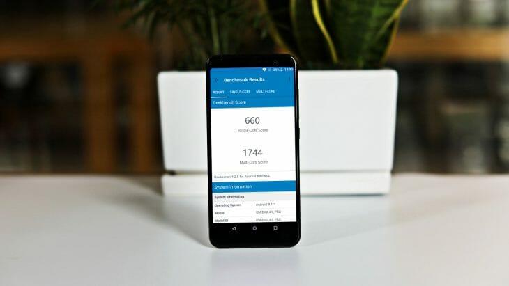 Результат недорогого смартфона в тесте AnTuTu