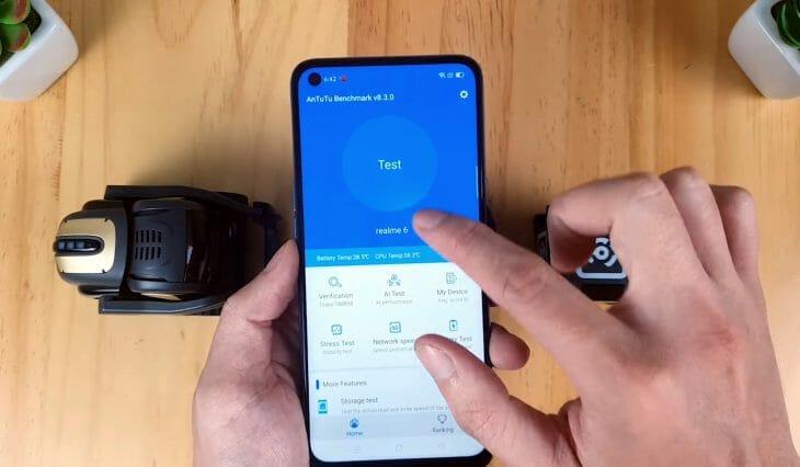 Запуск теста для замера производительности на смартфоне