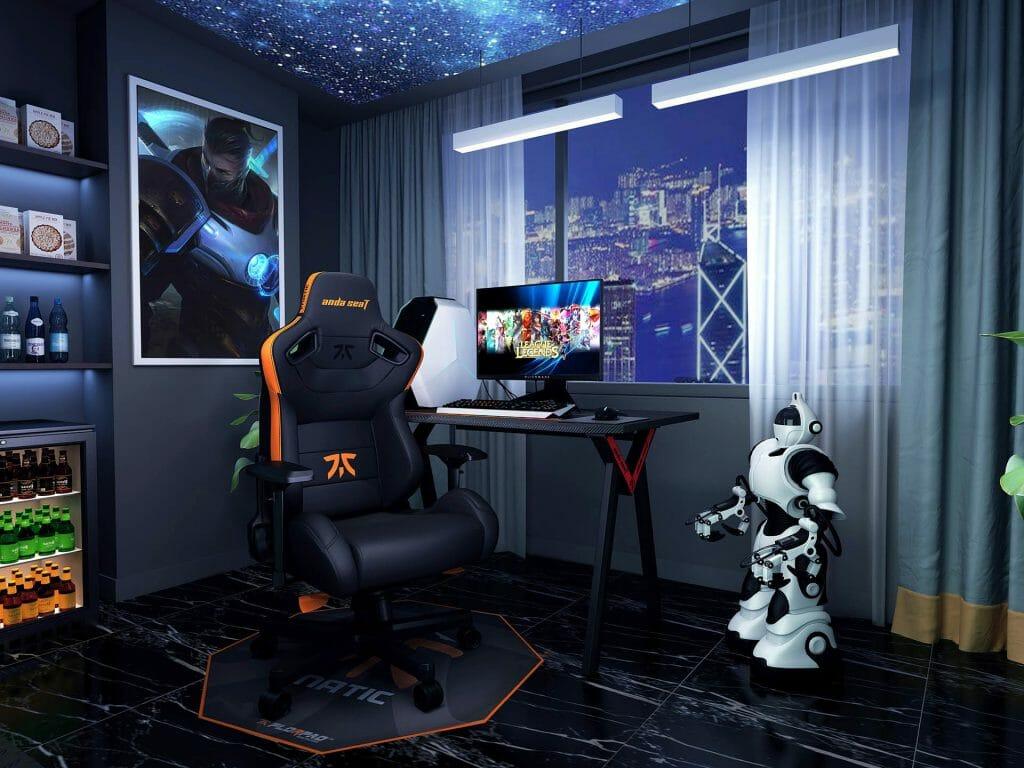 Черное кресло для геймера