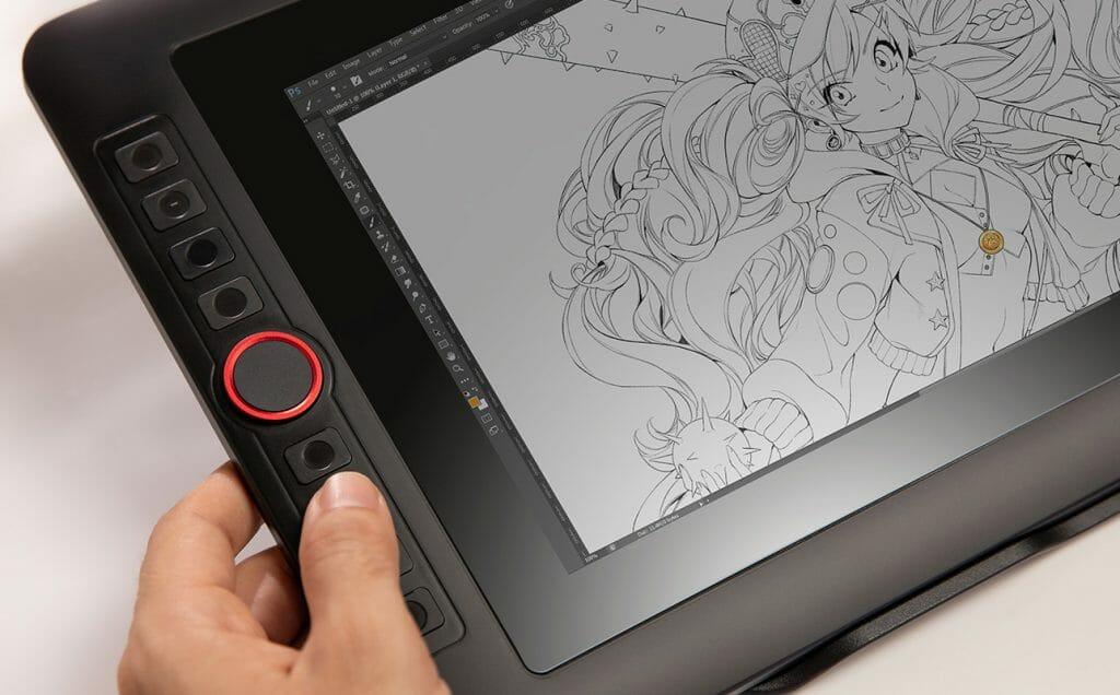 Кнопки управления на планшете для рисования