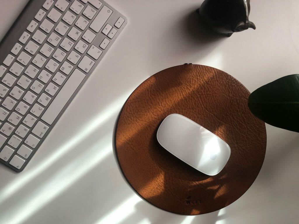 Маленький круглый коврик для мыши