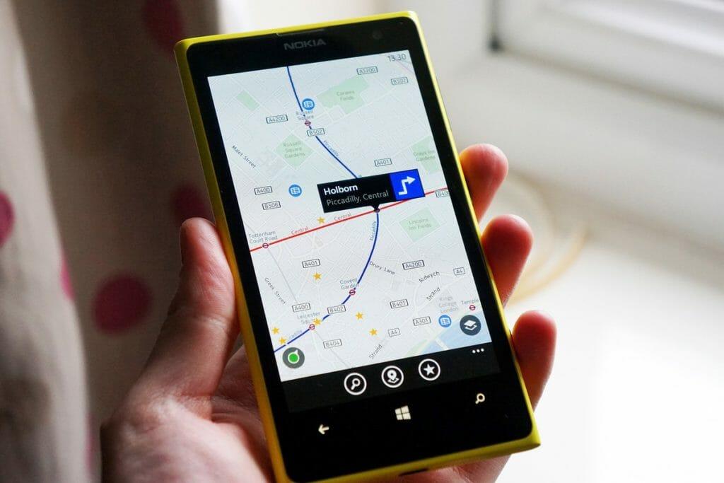 Навигация на телефоне под управлением Windows 10