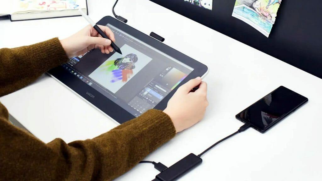 Планшет для рисования с подключением к смартфону на Android