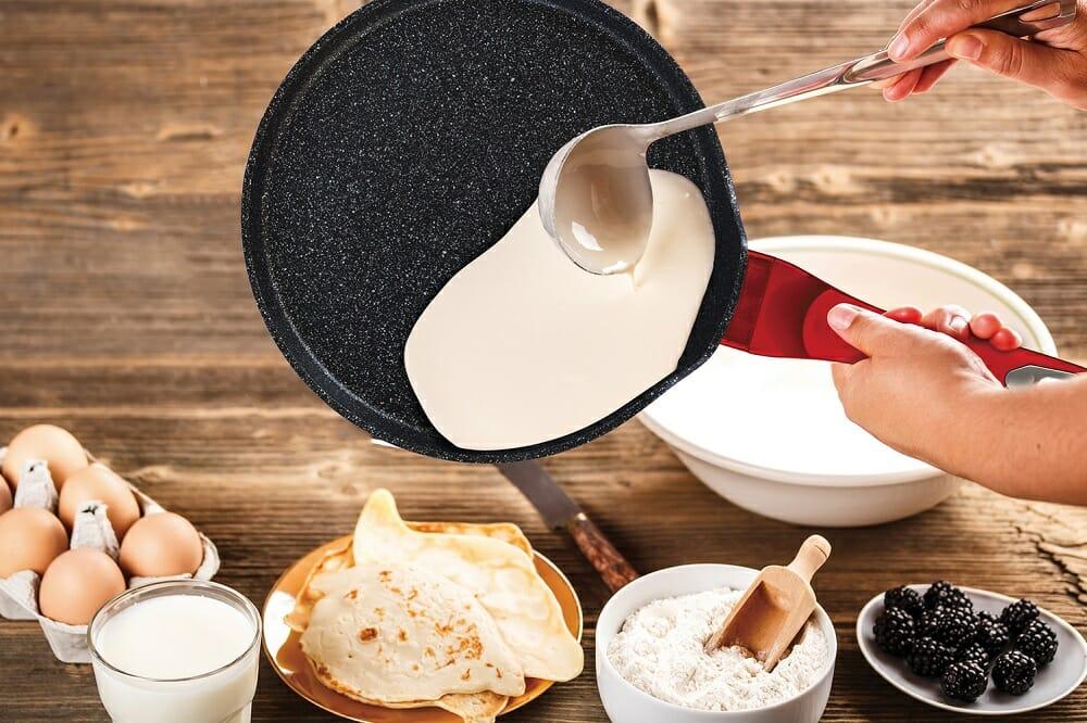Блинная сковорода с мраморным покрытием